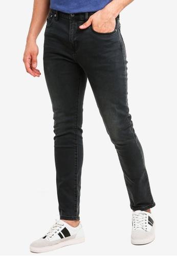Superdry 黑色 Tyler Slim Jeans 1544DAA1DDBDCDGS_1