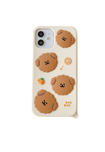 Kings Collection white Teddy Dog Pattern iPhone 12 Pro Case (KCMCL2395) 5F314ACC7F565FGS_1