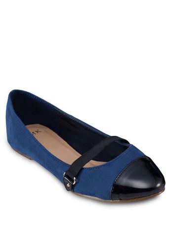 圓頭拼接平底鞋, 女鞋, 芭蕾esprit part time平底鞋