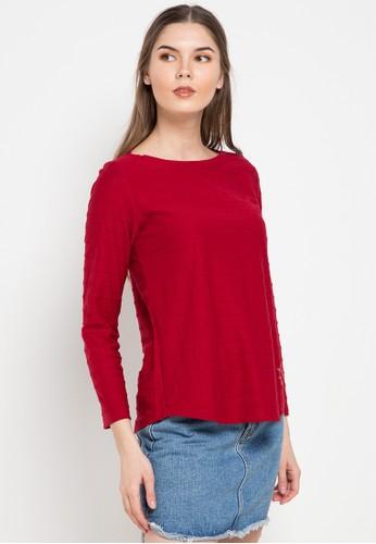 Exit red Sabrina Collar Shirt 326D7AA8AB0FD8GS_1