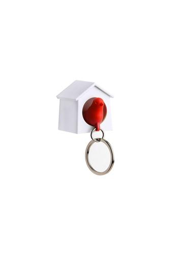 Qualy Qualy Mini Sparrow Key Ring (White/Red) 29F75HL86E8489GS_1