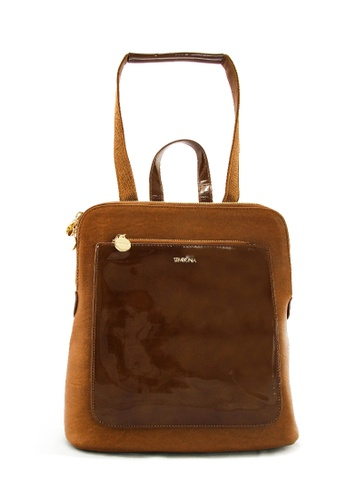 SEMBONIA brown SEMBONIA Synthetic Leather Backpack (Brown) SE598AC0T0Q2MY_1