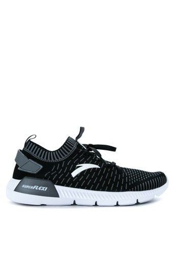 Anta black and grey and white Running Shoes AN488SH09KOSPH_1