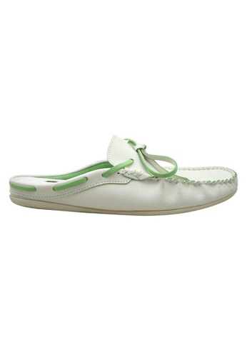 midzone white Faux Leather Casual Slip On SC378SH15YQEMY_1