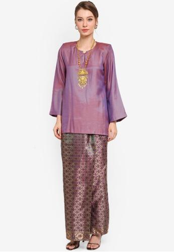 Yans Creation purple Latya Kurung Kedah CF155AA4255E50GS_1