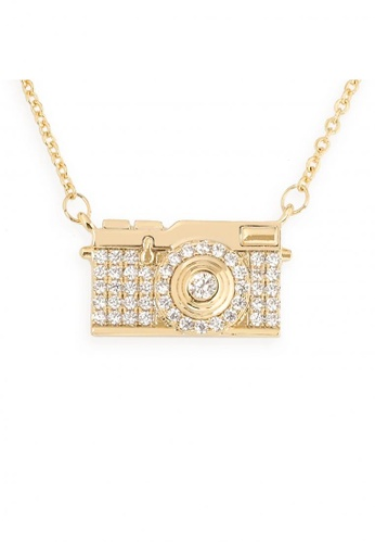 Mikana gold Hollywood 18k Gold Plated Emily In Paris Inspired Film Camera Pendant Necklace E472CAC1371AA4GS_1