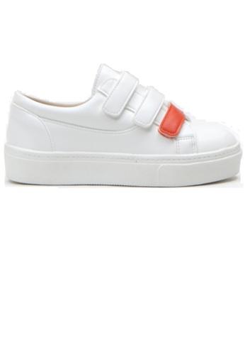Crystal Korea Fashion 白色 韓國制百搭拼色便利貼休閒鞋 56DAASH6B5925BGS_1