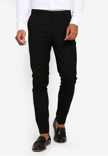 Burton Menswear London 黑色 緊身長褲 C2164AA8265975GS_1