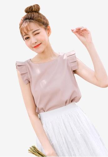 Tokichoi pink Pleated Detail Sleeveless Blouse 41E26AA448EF61GS_1