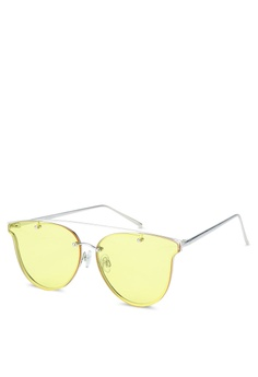 3268b692cf Jeepers Peepers yellow Clear Yellow Clubmaster Sunglasses 62EAEGL29F1BEEGS 1
