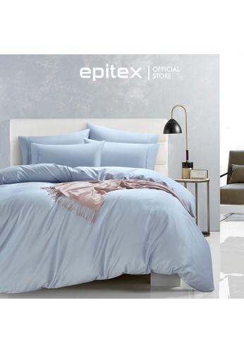 Epitex blue Epitex 1200TC Supima Prime Bedset - Bedsheet Set - Bedding Set (with quilt cover) - Ice Blue 8144AHLEA86654GS_1