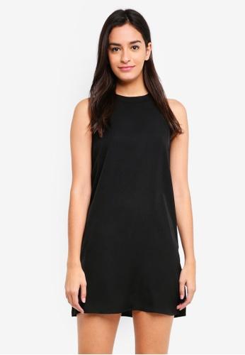 Something Borrowed black Cut In Sleeveless Swing Dress C472FAAF65EA9FGS_1