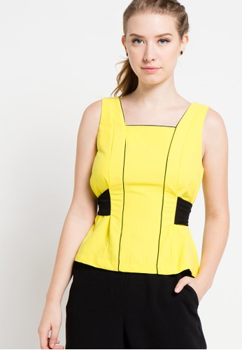 (X) S.M.L yellow Dilara Tops XS330AA63ZEIID_1
