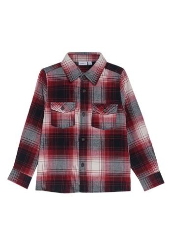 NAME IT red Omok Long Sleeves Shirt ED588KABB939D5GS_1