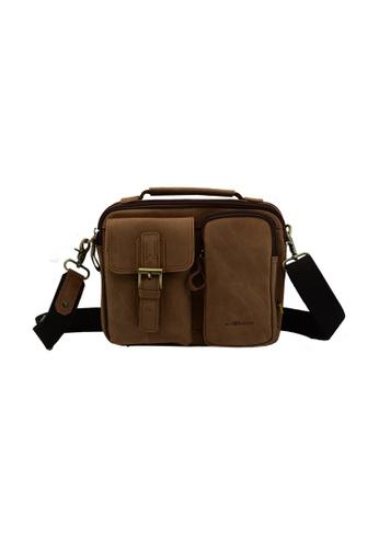 EXTREME brown Extreme Leather Sling Bag 1C3DDAC07C6AF6GS_1