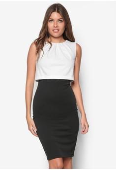 Contrast Midi Dress