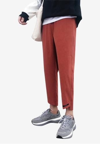 hk-ehunter red Men Cropped Pants DE2D4AA0823297GS_1