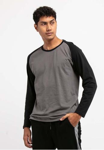 FOREST grey Forest 100% Cotton Round Neck Long Sleeve Plain Tee T Shirt Men - Baju T Shirt Lelaki Lengan Panjang - 23659 - 04Grey 8BDF5AACC7F91CGS_1