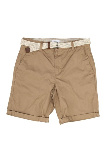 MANGO KIDS beige Belt Cotton Bermuda Shorts 11502KAE2C2610GS_1