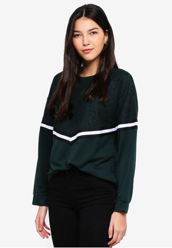 JACQUELINE DE YONG grey Alma Lace Sweatshirt 656A6AA86BC1FBGS_1