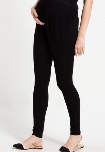 ELSY'S black Celana Legging Panjang Perut Kaos EL744AA39DBGID_1