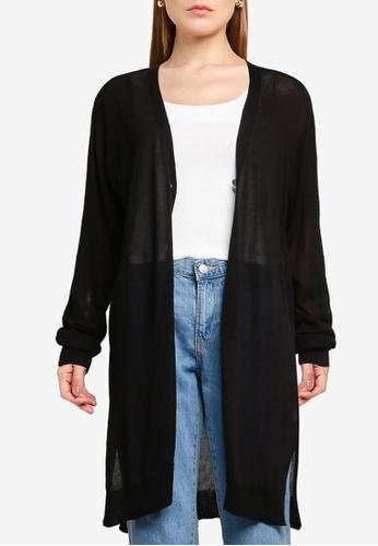 LOWRYS FARM black Knitted Long Cardigan 53B24AAD6A1C82GS_1