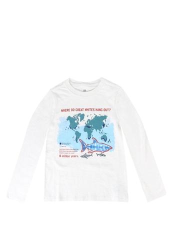 GAP white Graphic T-Shirt 521BDKA2DED8EFGS_1