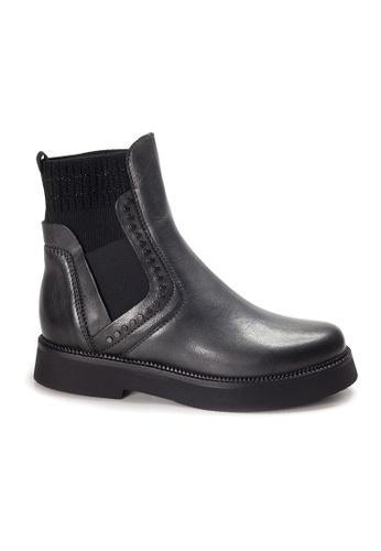 Shu Talk 灰色 LeccaLecca 真皮短靴 63B46SHD3E5EE1GS_1