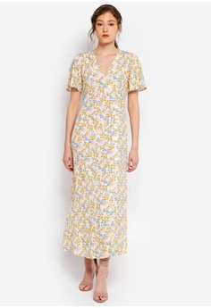 453f81ef311 Miss Selfridge multi and beige Petite Ivory Ditsy Print Maxi Dress  20DCEAA3E67481GS 1
