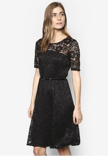 蕾絲腰帶京站 esprit修身洋裝, 服飾, 洋裝