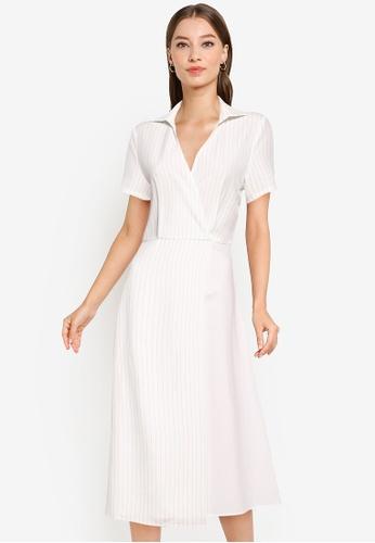 ZALORA WORK multi Contrast Fabric Dress 70151AA3B97D3BGS_1