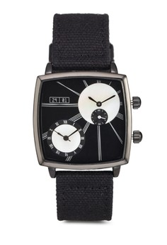 Men'S Water Resistant Analogue Watch With Pu Strap