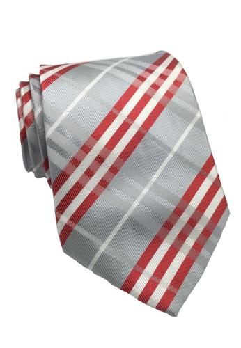 Splice Cufflinks silver Checkerboard Series Silver Checked Design Polyester Tie SP744AC90ILLSG_1