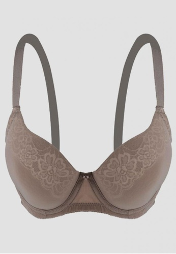 Caely CAELY BELLE SOFT CUP BRA (TAUPE) 1D2B1US70BA752GS_1
