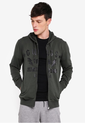 Guess 綠色 Guess 1981 Logo Hoodie E4C81AADC389ABGS_1