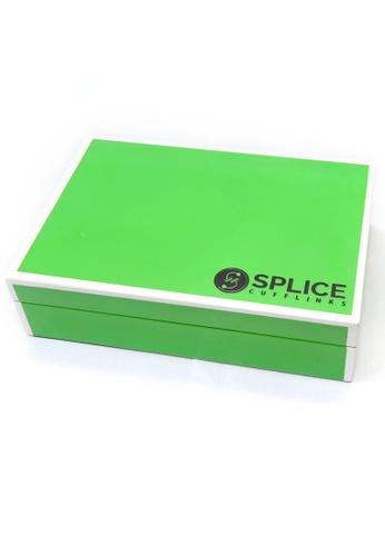 Splice Cufflinks green Green Glossy Finish Cufflinks Storage Box SP744AC0F49ASG_1