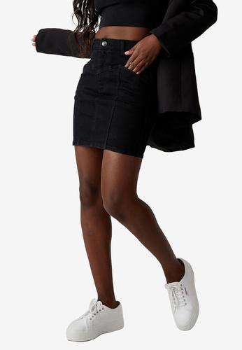 Supre black Clara Stretch Denim Mini Skirt 8D698AAF45D911GS_1