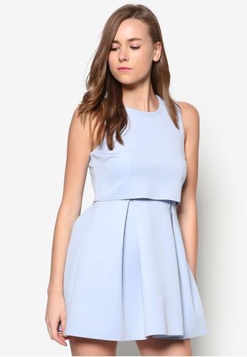 經典層次zalora 評價傘狀洋裝, 服飾, 洋裝