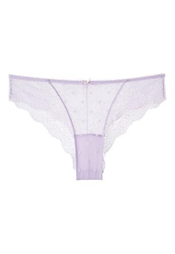 6IXTY8IGHT purple DAVIE SOLID, Polka Dot Cheek Panty PT10072 83A38USD04A3DBGS_1