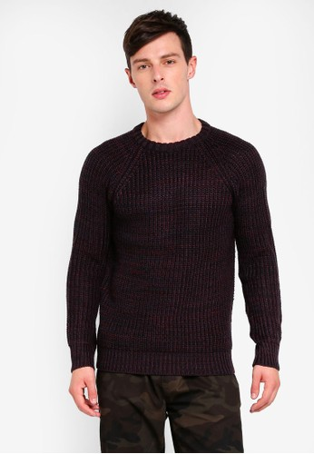 Brave Soul black Rib Double Collar Knit Jumper FBA37AA40286B7GS_1
