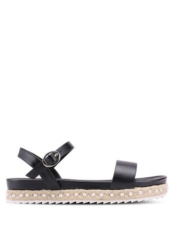 VINCCI black Strappy Sandals C1D6ESH30F643DGS_1