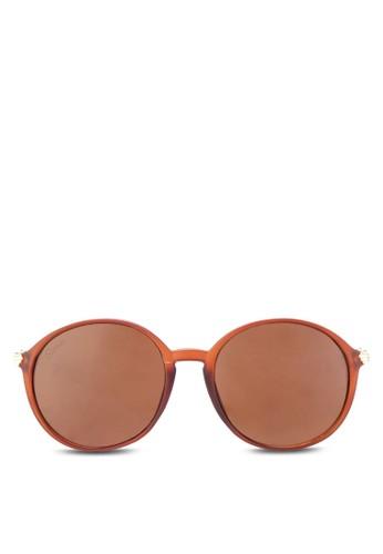 Venus 金飾圓框太陽眼鏡, esprit台灣飾品配件, 圓框