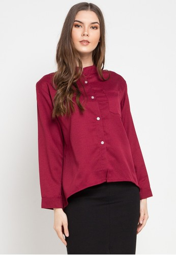 Office Hour red and multi Marcie Blouse 9C4F9AAC41789EGS_1