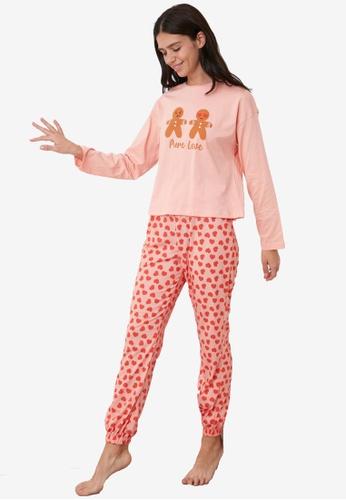 Trendyol multi Cookie Printed Knit Pajama Set DD602AA846CF82GS_1