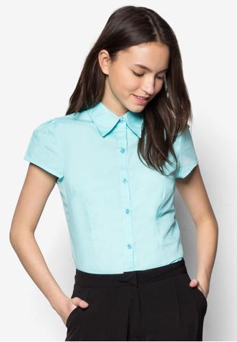 Isabel 短袖襯衫zalora是哪裡的牌子, 服飾, 上衣