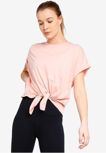 Cotton On Body pink Tie Front T-Shirt EEA08AADEEB492GS_1