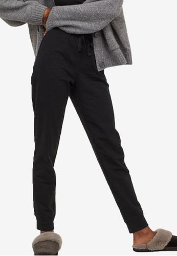 H&M black Pyjama Bottoms 7EFC3AA38A9C26GS_1