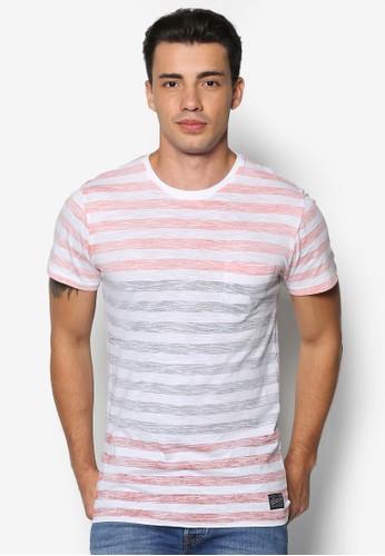 Byroadl espritn 多色條紋TEE, 服飾, T恤