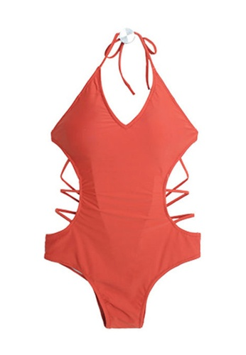 ZITIQUE red Women's Sexy Backless Tied One-piece Swimsuit - Red DBBC1USDD75CDFGS_1