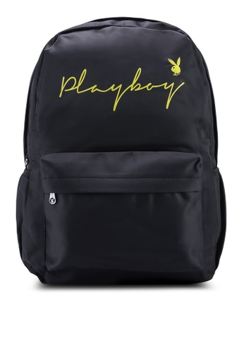 Playboy black Playboy Backpack 84894AC824FB61GS_1